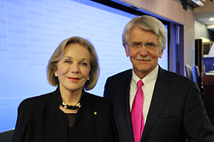 Ita Buttrose and Dr Petersen