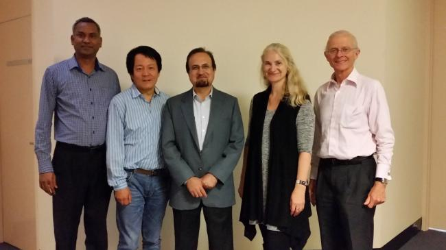 Photo: (From left to right) Dr Anbu Thalamuthu, A/Prof Wei Wen, Prof Perminder Sachdev, Dr Karen Mather, Prof Henry Brodaty, and (absent) Dr Nicola Armstrong.