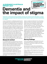 Dementia and Stigma Report 2017