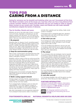 Helpsheet - tips for caring from a distance