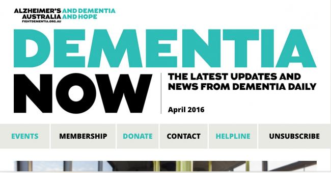 Dementia Now newsletter image