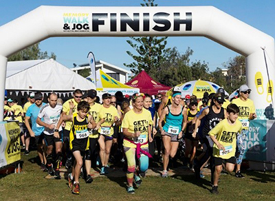 Runners at the finish line